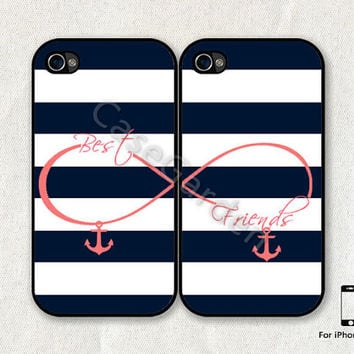 iPhone 4 Case, iPhone 4s Case, iPhone Case, iPhone 4 Cover, iPhone 4s Cover, Best Friends, Infinity Anchor