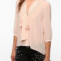 Pins and Needles Chiffon Tie-Neck Tunic