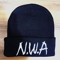 Perfect NWA Hip Hop Women Men Beanies Winter Knit Hat Cap