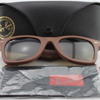 Cheap New Ray-Ban RB2140QM 1169/85 Wayfarer-Brown LEATHER Frame/Brown Polar Lens outlet