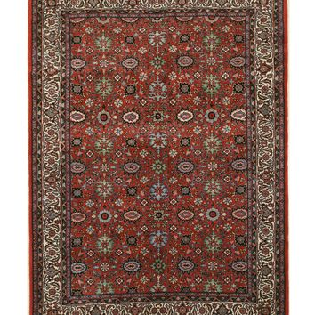 EORC Hand-knotted Wool Rust Traditional Oriental Bidjar Rug