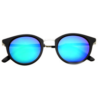 Retro European Round Horned Rim Revo Lens Sunglasses 9650