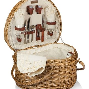 Picnic Time Heart Shaped Wicker Picnic Basket   Nordstrom