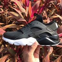 Best Online Sale Nike Air Huarache 4 Run Rainbow Ultra Breathe Women Men Black White Reflective vampire Running Sport Casual Shoes Sneakers - 857909-833