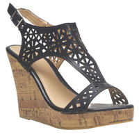 Cutout Cork Wedges | Wet Seal
