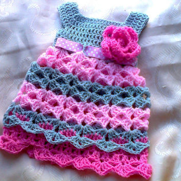 Baby Dress Pattern, Crochet Baby Dress Pattern