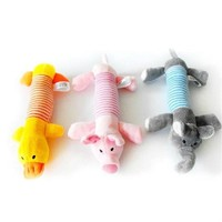 Pet Supplies Dog Puppy Toys Chew Squeaker Squeaky Plush Sound Duck Pig & Elephant Toys