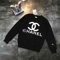 CHANEL x Champion 2018 latest men's and women's crewneck sweater pullovers F