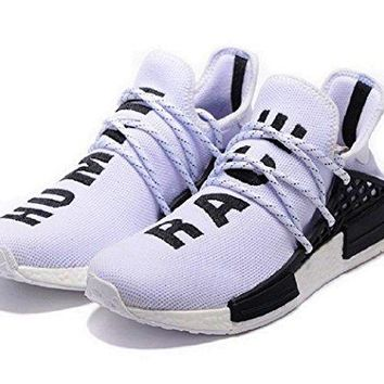 bashy fashion NMD, hu,Human Race,White Pharrell Williams Tennis Sneakers Shoes BB0619