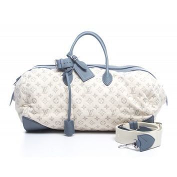 Louis Vuitton Limited Edition Blue Monogram Denim Speedy Round Bag