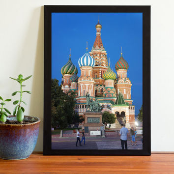 digital arts digital photography download photo art  wall décor  on sale russian church moscow colorful architecture picture wall decor