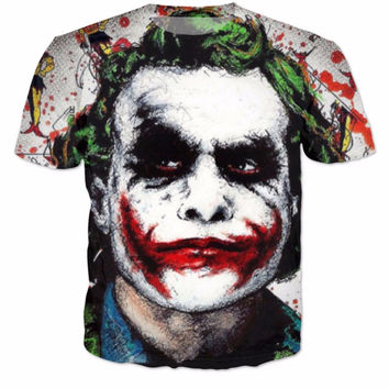 Alisister Funny Batman The Joker DC Comics Superhero Print 3D T-Shirt Women Men Summer Style t shirt Harley Quinn Carnage tees