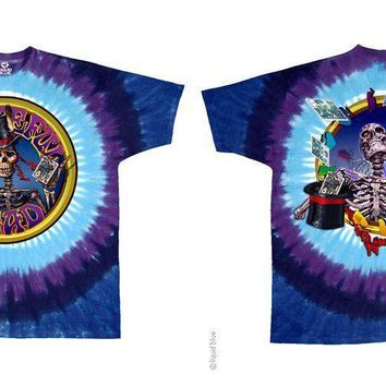 New GRATEFUL DEAD Queen of Spades TIE DYE T Shirt 2 - SIDED LICENSED ROCK SHIRT