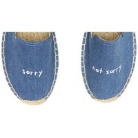 Soludos ASHKAHN x Sorry/Not Sorry Embroidered Platform Smoking Slipper in Medium Denim - Soludos Espadrilles