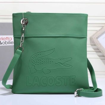 LACOSTE  Women Leather Shoulder Bag Crossbody Satchel G-MYJSY-BB
