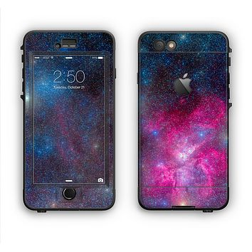 The Pink & Blue Galaxy Apple iPhone 6 LifeProof Nuud Case Skin Set