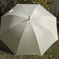 Ivory Wedding Umbrella 60""