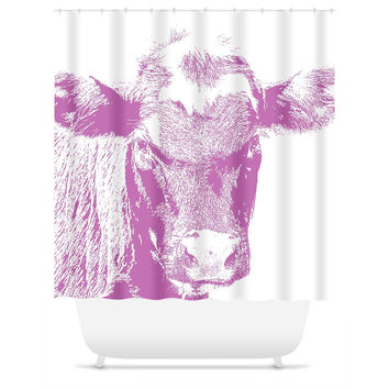Pink Cow - Shower Curtain