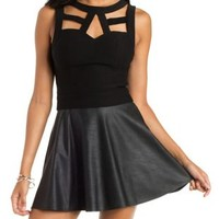 Black Caged Millenium Top by Charlotte Russe