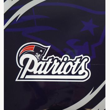 NFL Football Licensed New England Patriots Queen Size Royal Plush Blanket Throw