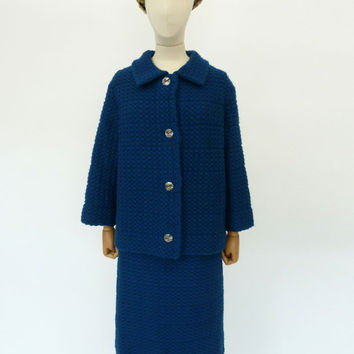 VINTAGE 1950s HARRODS DAY SKIRT SUIT 14