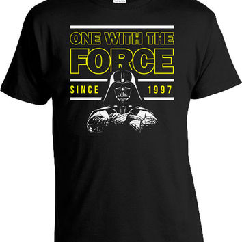 20th Birthday Shirt Custom Year Movie T Shirts Geek Gift Ideas For Him Bday TShirt One With The Force Since 1997 Birthday Mens Tee DAT-1020