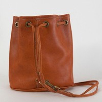 American Apparel - Leather Drawstring Backpack