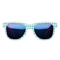 Houndstooth,green,girly,big pattern,trendy,cute,fu sunglasses