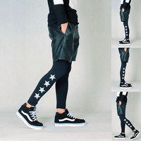 Pattern Noctilucent Couple Pants Leggings [6541226243]