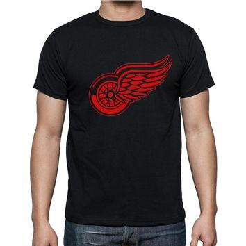 New Detroit Red Wings T-shirt cotton Big & Tall Logo Fashion Wings Short Sleeve hip hop t shirt tshirt men Camisa XS-2XL
