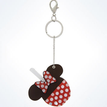 disney parks minnie mouse candy apple keychain keyring mirror new with tags