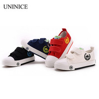 New 2017 spring autumn children canvas shoes breathable casual soft bottom shoes for girls and boys school sports shoes sneakers
