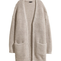 Rib-knit Cardigan - from H&M