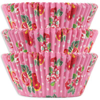 Pink Tea Rose Baking Cups
