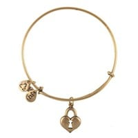 Alex and Ani Key To My Heart Charm Bangle - Russian Gold