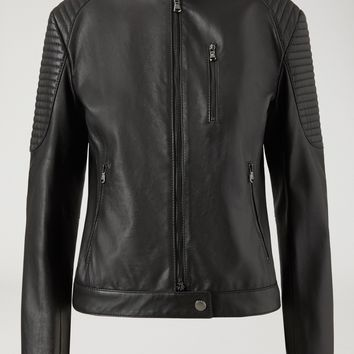BIKER JACKET IN NAPPA LEATHER WITH PADDING for Women | Emporio Armani