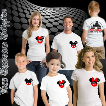 Disney Vacation Pirate Family shirts Personalized, Mickey Family Tees, Vacation Shirts for Disney