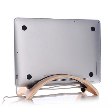 Wooden Macbook Air Pro Stand