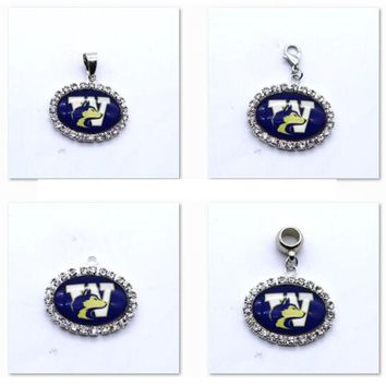 Pendant Charms Rhinestone NCAA Washington Huskies Charms for Bracelet Necklace for Women Men Basketball Fans Paty Fashion 2017