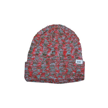 DOPE Woven Knit Beanie In Red