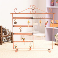 New Fashion Jewelry Earring Display, 48 Holes Earring Jewelry Display Rack Stand Vintage Necklace Holder