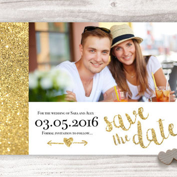 gold save the date, glitter save the date, gold glitter, save the date, glitter wedding stationary, golden glitter wedding, printable