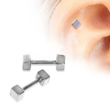 316L Surgical Steel Cubed Cartilage Earring
