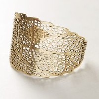 Sun-Kissed Foliage Cuff by Anthropologie Gold One Size Jewelry