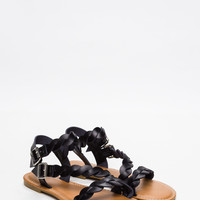 Get Twisted Faux Leather Sandals