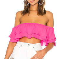 by the way. Susan Off Shoulder Top in Hot Pink | REVOLVE