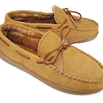 Club Room Mens Moccasin Faux Fur Slippers