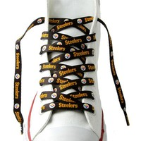 "Pittsburgh Steelers Shoe Laces - 54"" Black"