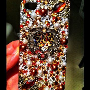 Sparkly Cheetah Print iPhone 4/4s case- Cheetah licious