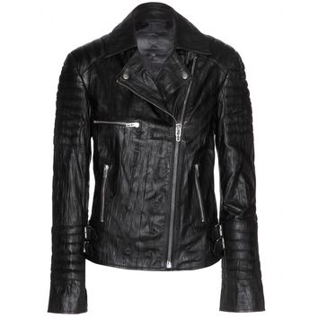 mcq alexander mcqueen - leather biker jacket